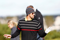 04.10.2012, Old Course, St. Andrews, SCO, European Golf Tour, Alfred Dunhill Links Championship, im Bild Michael Phelps reacts after a lost ball while // during the European Golf Tour, Alfred Dunhill Links Championship at the Old Course, St. Andrews, Scotland on 2012/10/04. EXPA Pictures © 2012, PhotoCredit: EXPA/ Mitchell Gunn