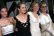 Meryl Streep (right) posing before entering the 'The Devil Wears Prada' premiere at the AMC LOEWS in Lincoln Square, New York, USA, on Monday, June 20, 2006. She is part of the cast. **ITALY OUT**
