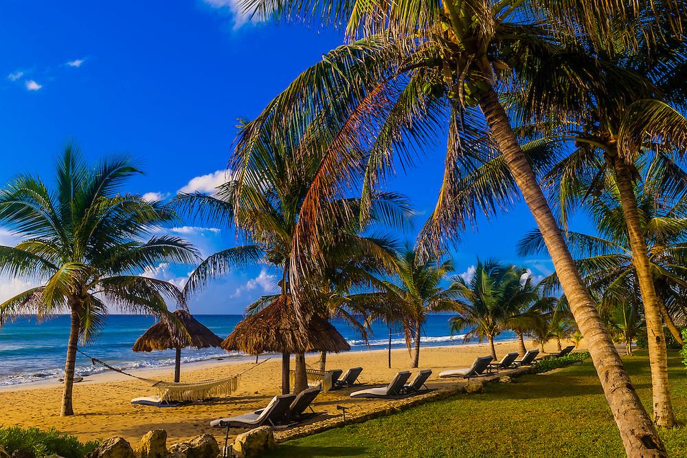 The beach at Le Reve Hotel, Riviera Maya, Quintana Roo, Mexico