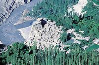 Pakistan. Northen Area. Hunza. Altit village. // Pakistan. Territoires du nord. Hunza. Village de Altit.