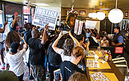 Protesters take over Sarland Waffle House