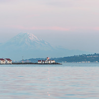 The lighthouse at Discovery Park, Seattle, Washington. Photo by William Drumm, 2013.