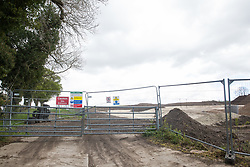 Wendover, UK. 4th May, 2021. Ground clearance works close to the A413. Large areas of land are currently being cleared of trees and vegetation around Wendover in the Chilterns AONB in preparation for the HS2 high-speed rail link, with some work recently taking place after dark.