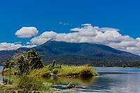 Mombacho Volcano from las isletas de Granada Nicaragua lake