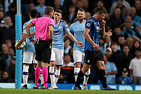 Football - 2019 / 2020 UEFA Champions League - Group C: Manchester City vs. Atalanta<br /> <br /> Phil Foden of Manchester City reacts after being shown a red card by referee Orel Grinfeld, at the Etihad Stadium.<br /> <br /> COLORSPORT/PAUL GREENWOOD