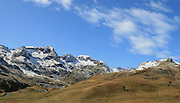 Spain, Snow on the Pyrenees Mountains