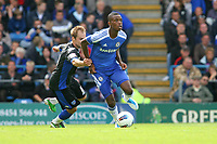 Football - Pre-Season Friendly - Portsmouth vs. Chelsea<br /> Portsmouth's Luke Varney grabs Chelsea's Nathaniel Chalobah during there friendly at Fratton Park