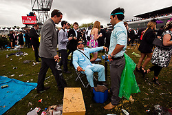 (c) under License to London News Pictures 02/11/2010.Young racegoers resting after a big day at the 2010 Melbourne cup