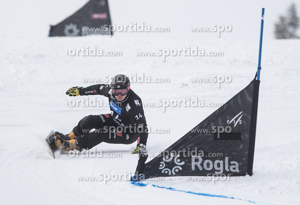 Baumeister Stefan during the FIS snowboarding world cup race in Rogla (SI / SLO) | GS on January 20, 2018, in Jasna Ski slope, Rogla, Slovenia. Photo by Urban Meglic / Sportida