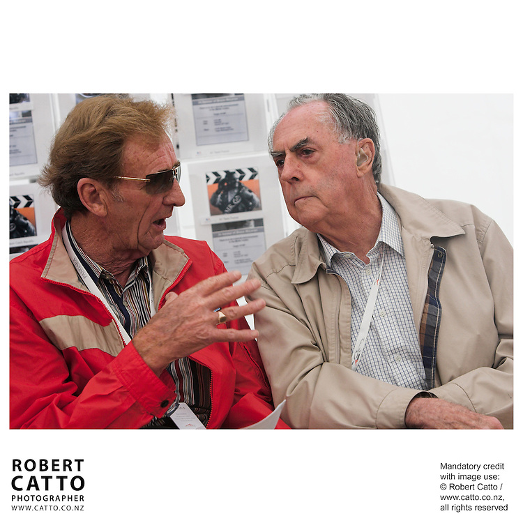 Phil Kerr;Sir Jack Brabham at the Launch of the Bruce McLaren Movie project at the A1 Grand Prix of New Zealand at the Taupo Motorsport Park, Taupo, New Zealand.