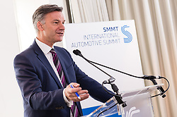 EDITORIAL USE ONLY<br /> Mike Hawes, SMMT CEO, speaks about diesel at the Society of Motor Manufacturers and Traders (SMMT) International Automotive Summit conference at The Institute of Engineering and Technology in London.