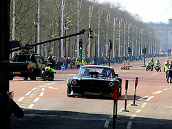 © London News Pictures. 13/03/2016.  London, UK. MATT LEBLANC takes part in filming for the new BBC Top Gear series on The Mall, London in front of Buckingham Palace. The new co-presenter performed stunts in a Ford Mustang around various parts of central London. LeBlanc is co-presenting the new series with Chris Evans. Photo credit: MrG/LNP , cenotaph, parliament, houses of parliament, downing street, George Osborne,