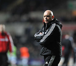Fulham assistant Manager Ray Wilkins watches on as the team train. - Photo mandatory by-line: Alex James/JMP - Tel: Mobile: 07966 386802 28/01/2014 - SPORT - FOOTBALL - Liberty Stadium - Swansea - Swansea City v Fulham - Barclays Premier League