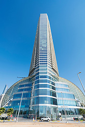 Exterior view of The Landmark Tower in Abu Dhabi United Arab Emirates