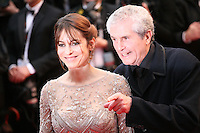 Audrey Dana and Claude Lelouch at the red carpet for the gala screening of Jimmy P. Psychotherapy of a Plains Indian film at the Cannes Film Festival 18th May 2013