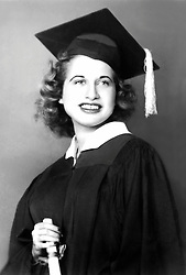1940's high school graduation portrait