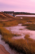 Image of a waterfront home in the town of Wellfleet on Cape Cod, Massachusetts, New England, property released by Randy Wells