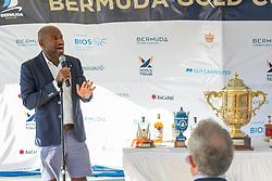 CEO of Bermuda Tourism, Glenn Jones. Bermuda Gold Cup and Open Match Racing World Championship. Royal Bermuda Yacht Club, Hamilton, Bermuda. Day Five. 30th October 2020.