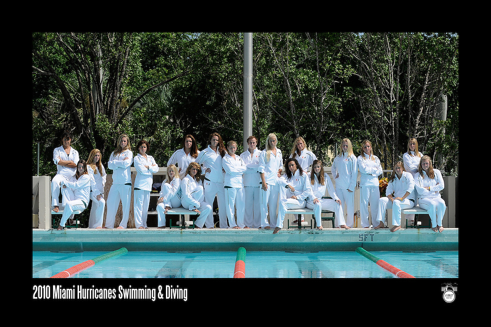 2010 Miami Hurricanes Swimming & Diving Team Photo