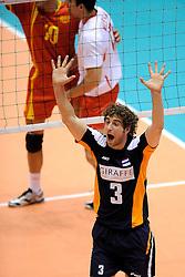 29-05-2010 VOLLEYBAL: EK KWALIFICATIE MACEDONIE - NEDERLAND: ROTTERDAM<br /> Nederland wint met 3-0 van Macedonie en plaatst zich voor de volgende ronde / Yannick van Harskamp<br /> ©2010-WWW.FOTOHOOGENDOORN.NL