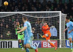 Coventry City Goalkeeper Lee Burge kicks forward