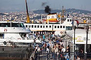 TRS177A commuters on ferry-boats. istanbul