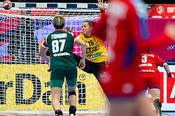 Blanka Biro of Hungary during the Women's EHF Euro 2020 match between Serbia and Hungary at Sydbank Arena on december 06, 2020 in Kolding, Denmark (Photo by RHF Agency/Ronald Hoogendoorn)