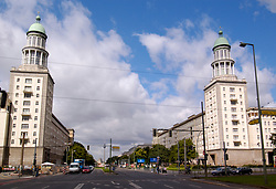 Frankfurter Tor on Karl Marx Allee in former East Berlin Germany