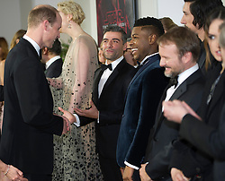 The Duke of Cambridge and Prince Harry attend The European Premiere of Star Wars: The Last Jedi, at the Royal Albert Hall, London, UK, on the 12th December 2017. Picture by Eddie Mulholland/WPA-Pool. 12 Dec 2017 Pictured: Prince Harry, Prince William, Duke of Cambridge, John Boyega. Photo credit: MEGA TheMegaAgency.com +1 888 505 6342