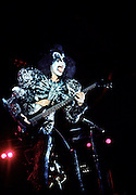 Photo of Gene Simmons from the band Kiss Live in Rome - 1980