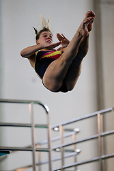 Grace Reid of Edinburgh Diving Club competes in the Womens 3m Springboard Final - Photo mandatory by-line: Rogan Thomson/JMP - 07966 386802 - 22/02/2015 - SPORT - DIVING - Plymouth Life Centre, England - Day 3 - British Gas Diving Championships 2015.