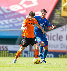 Dundee United's Ian Harkes and Inverness Caledonian Thistle's Charlie Trafford. Dundee United 4 v 1 Inverness Caledonian Thistle, first Scottish Championship game of season 2019-2020, played 3/8/2019 at Tannadice Park, Dundee.