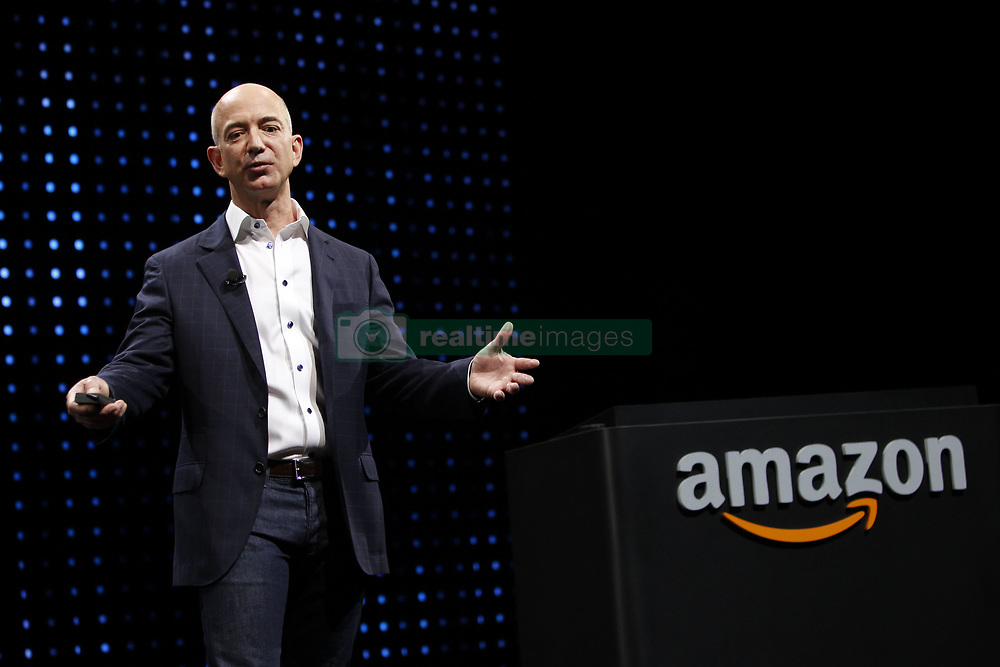 August 5, 2013 -  FILE -The Washington Post, the newspaper whose reporting helped topple a president and inspired a generation of journalists, is being sold for 50 million to the founder of Amazon.com, Jeffrey P. Bezos, in a deal that has shocked the industry. PICTURED:  Sept. 6, 2012 - Santa Monica, California, U.S. - Jeff Bezos, chief executive officer of Amazon.com Inc., introduces new Kindle Fire HD and Paperwhite tablets at a news conference. (Credit Image: © Patrick Fallon/ZUMAPRESS.com)