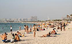 Jumeirah Beach district of modern Dubai, UAE, United Arab Emirates.