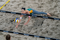 Agatha Bednarczuk BRA in action during the third day of the beach volleyball event King of the Court at Jaarbeursplein on September 11, 2020 in Utrecht.