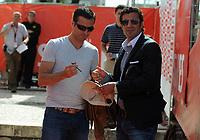 20090606: LISBON, PORTUGAL - Luis Figo Sagres Street Football - Luis Figo Sagres Street Football - Luis Figo Team vs Rui Costa Team. In picture: Pauleta and Luis Figo. PHOTO: Alvaro Isidoro/CITYFILES