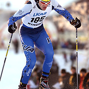 KIRUNA 20021122<br /> Vincent Vittoz (FRA) won the men,s  World Cup 10 km cross country  in Kiruna, Sweden November 23, 2002.<br /> Vittoz won with time 23.59,9 ahead of Pietro Piller Cottrer (ITA)  second and Fulvio Valbusa (ITA) in third place.<br /> Picture: Pietro Piller Cottrer (ITA) in action.<br /> FOTO: Anders Wiklund/SCANPIX Code 50030