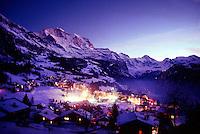 Twilight, Wengen, Bernese Oberland, Switzerland