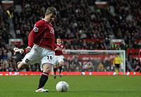 Photo: Paul Thomas.<br /> Manchester United v Aston Villa. The FA Cup. 07/01/2007.<br /> <br /> Ole Gunnar Solskjaer of Man Utd lines up his winning goal.
