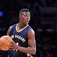 07 December 2014: New Orleans Pelicans guard Jrue Holiday (11) is seen during the New Orleans Pelicans 104-87 victory over the Los Angeles Lakers, at the Staples Center, Los Angeles, California, USA.