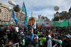 August 22, 2017 - Buenos Aires, Buenos Aires, Argentina - Main Labor Unions gather in Plaza de Mayo to protest against the Government's employment policies. (Credit Image: © Claudio Santisteban via ZUMA Wire)