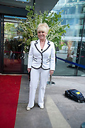 Barbara Windsor;  attend The Galleries of Modern London launch party at the Museum of London on May 27, 2010 in London. <br /> -DO NOT ARCHIVE-© Copyright Photograph by Dafydd Jones. 248 Clapham Rd. London SW9 0PZ. Tel 0207 820 0771. www.dafjones.com.