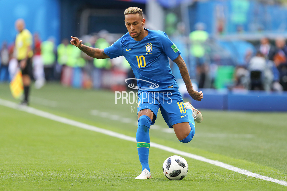 Neymar of Brazil during the 2018 FIFA World Cup Russia, Group E football match between Brazil and Costa Rica on June 22, 2018 at Saint Petersburg Stadium in Saint Petersburg, Russia - Photo Thiago Bernardes / FramePhoto / ProSportsImages / DPPI