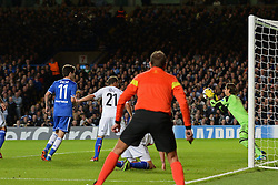 18.09.2013, Stamford Bridge, London, ENG, UEFA Champions League, FC Chelsea vs FC Basel, Gruppe E, im Bild Basel's Yann Sommer makes a save  during UEFA Champions League group E match between FC Chelsea and FC Basel at the Stamford Bridge, London, United Kingdom on 2013/09/18. EXPA Pictures © 2013, PhotoCredit: EXPA/ Mitchell Gunn <br /> <br /> ***** ATTENTION - OUT OF GBR *****