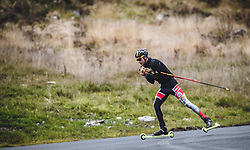 23.10.2018, Casino Arena, Seefeld, AUT, OeSV, Nordische Kombination, Training, Skiroller, im Bild Lukas Greiderer (AUT) // Lukas Greiderer of Austria during the Skiroller training of Austrian Nordic Combined team at the Casino Arena in Seefeld, Austria on 2018/10/23. EXPA Pictures © 2018, PhotoCredit: EXPA/ JFK