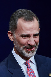 Queen Letizia of Spain, King Felipe of Spain attended an audience with Princesa de Asturias Awards 2018 winners at the Reconquista Hotel on October 19, 2018 in Oviedo, Spain. 19 Oct 2018 Pictured: King Felipe of Spain. Photo credit: MEGA TheMegaAgency.com +1 888 505 6342