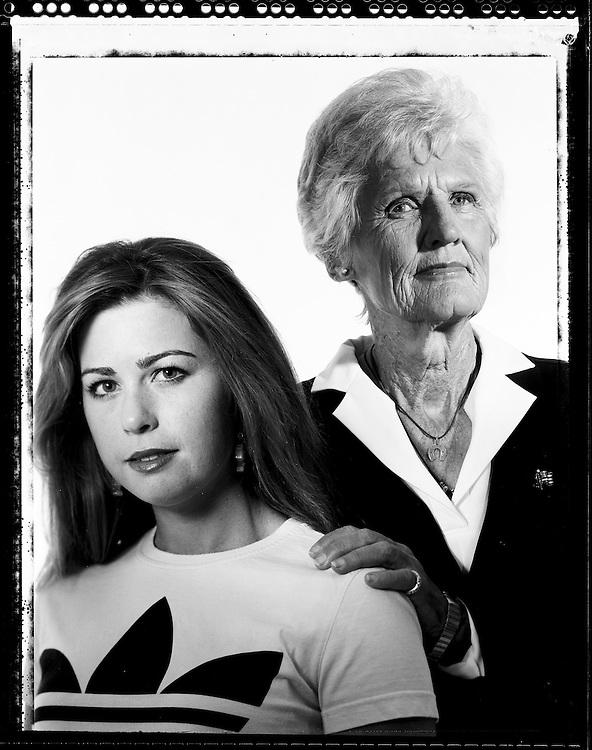 Paula Creamer (l) and Kathy Whitworth.