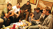 (from left)   Bo Hicks (percussion), Paul Losavio (gutair and vocals), Rusty Kyzer (drums), Dave Cheek (bass), and Chris Johnston (sax and vocals)