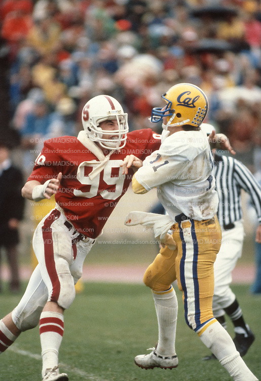 COLLEGE FOOTBALL:  Stanford vs Cal on November 21, 1981 at Stanford Stadium in Palo Alto, California.  Photograph by David Madison   www.davidmadison.com.