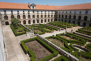 Garden exterior of the Cloister Of Alcobaca Monastery, Portugal.